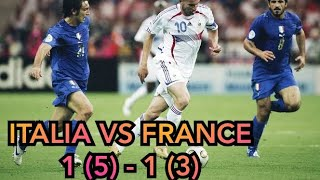 FINAL WORLD CUP 2006 Italia vs Prancis Worldcup Pialadunia Italy France Football Sepakbola