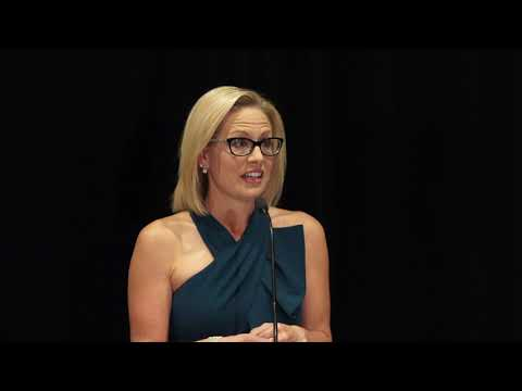 Kyrsten Sinema addresses supporters after winning U.S. Senate race