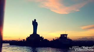 Boat riding in Hussain Sagar lake Hyderabad