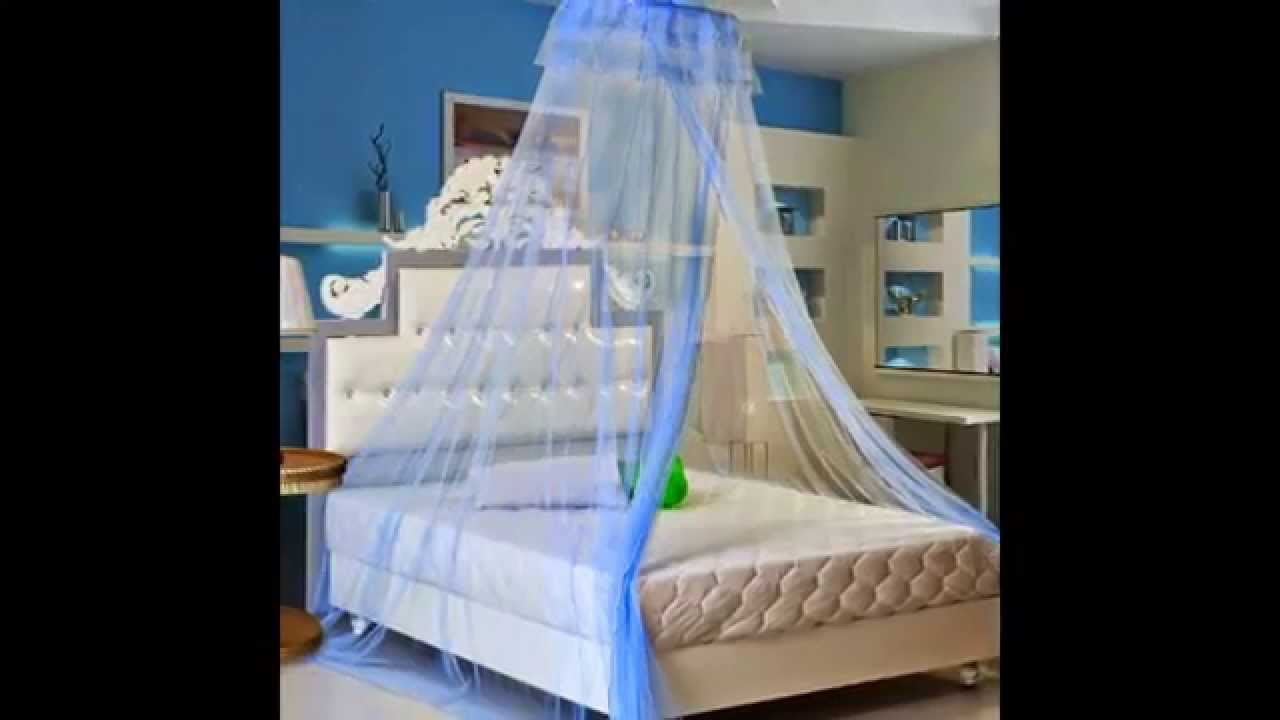 Bed Canopy Mosquito Net Dark Blue Order Now Youtube