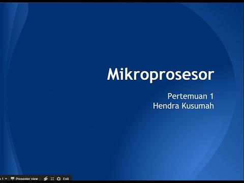 Mikroprosesor pertemuan 1