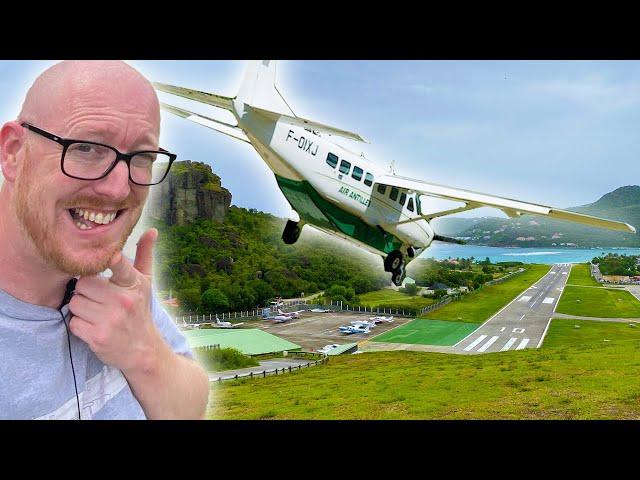 Landing at ST BARTS! EXTREME AIRPORT