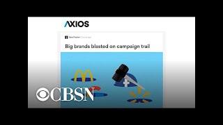 2020 presidential candidates target big brands