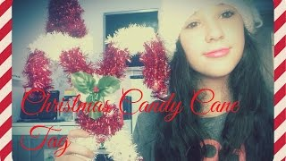 Christmas Candy Cane Tag Thumbnail
