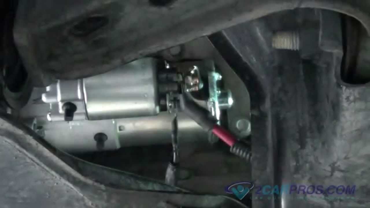 starter replacement ford mustang 2005 2010 youtube 1996 ford mustang starter location at 2001 Mustang Starter Diagram