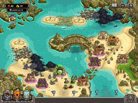 Kingdom Rush Frontiers Walkthrough Level 18 The Sunken Citadel [Normal] [3 Stars]
