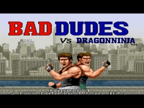 Bad Dudes Vs. DragonNinja Arcade Gameplay Playthrough longplay