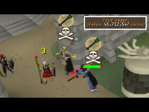 DRAGON SPEARING players into SAFEZONE for BANK LOOT [DMM]