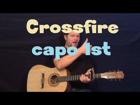 Crossfire (Stevie Ray Vaughan) Easy Guitar Lesson Capo 1st Fret How ...
