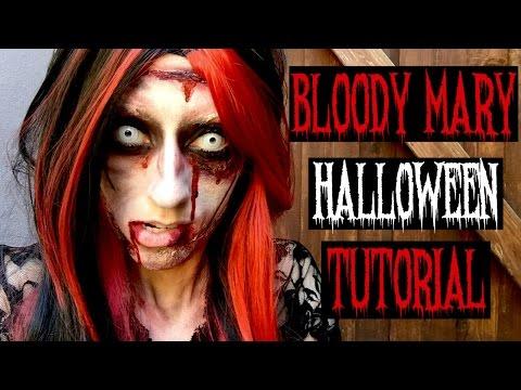 Bloody Mary Halloween Makeup Tutorial