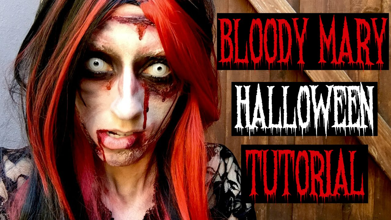 Bloody Mary Halloween Makeup Tutorial - YouTube