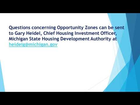 Michigan Opportunity Zone Initiative Update
