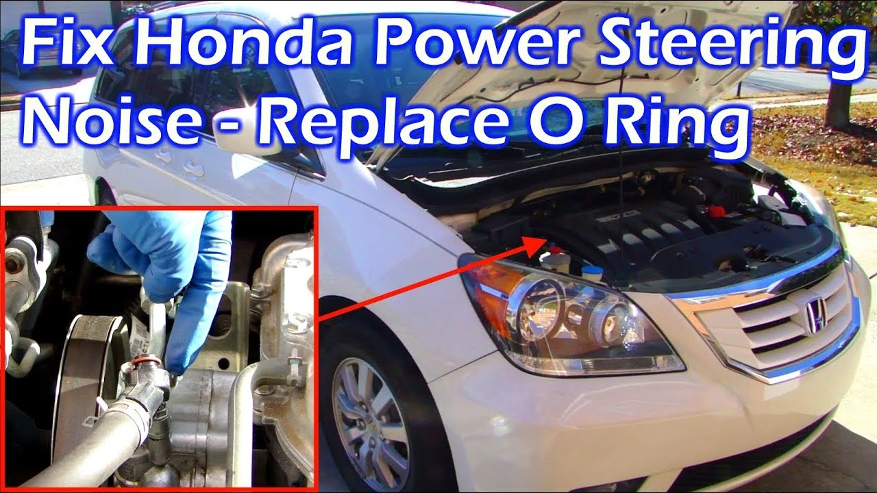 how to fix honda power steering noise replace steering pump o ring [ 1280 x 720 Pixel ]