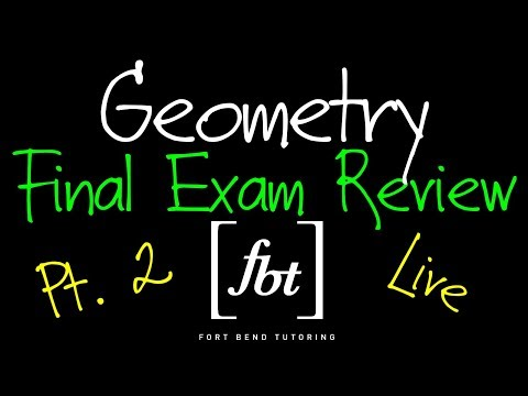 Geometry EOC Final Exam Review Part 2 Fbt Geometry 2nd Semester Exam Review