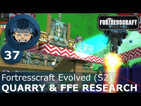 QUARRY & FROZEN FACTORY RESEARCH - Fortresscraft Evolved: Ep. #37 - Gameplay & Walkthrough (S2)