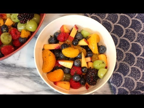 Fruit Salad Recipe with Mint Simple Syrup | How To Make Fruit Salad
