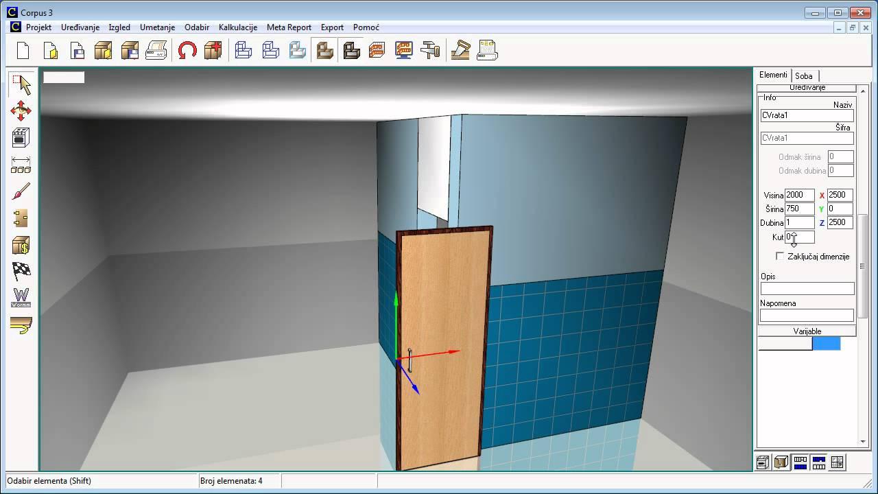 Dimenzioniranje prostora i bojanje prostorije