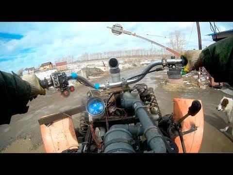 Самодельный квадроцикл с двигателем от ВАЗ 2108. Тест драйв. ЛуАЗ ПРОТИВ самодельных квадров и Stels