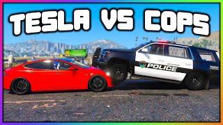 GTA 5 Roleplay - TESLA vs COPS TROLLING | RedlineRP