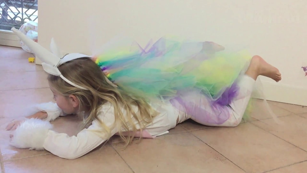 Costume Di Carenvale Da Unicorno Per Bambina Tutorial Youtube