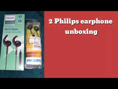 Philips SHE1525BK & Philips SHE2305BK unboxing and review
