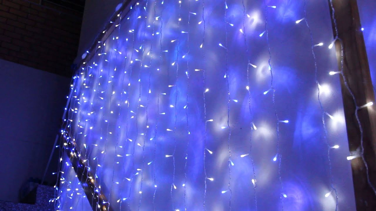 Blue curtain backdrop - 576 Led Blue And White Wedding Curtain Backdrop Lights With Open Close Door Functions 3m X 3m Youtube