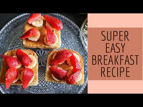 EASY BREAKFAST RECIPE  PEANUT BUTTER TOAST & STRAWBERRIES  Social Cravings   Shivani Trehan