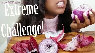 ASMR EXTREME CHALLENGE** RAW ONION **  Extreme Crunchy Eating Sounds