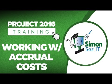 How to Work with Accrual Costs in Microsoft Project 2016