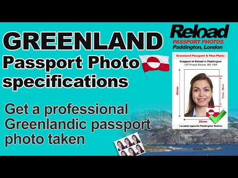 Get your Greenland Passport Photo and Visa Photo snapped in Paddington, London