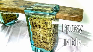 Atlantis Table of Epoxy! We combined Epoxy with Stone, Wood and Metal! Стол Атлантида из Эпоксидки!