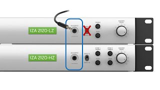 Bose FreeSpace Amplifier IZA/ZA 2120-LZ/HZ Front and Rear Panel Overview