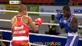 Boxing Update - Png's Thadius Katua To Quarterfinals | Xv Pacific Games Day #13 #emtvpacgames