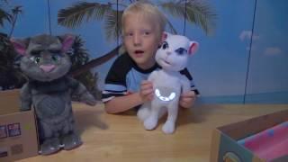 Интерактивные игрушки КОТ ТОМ и КОШЕЧКА АНЖЕЛА - Из серии Talking Friends Superstar.