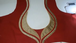 beautiful neck design cutting and stitching at home