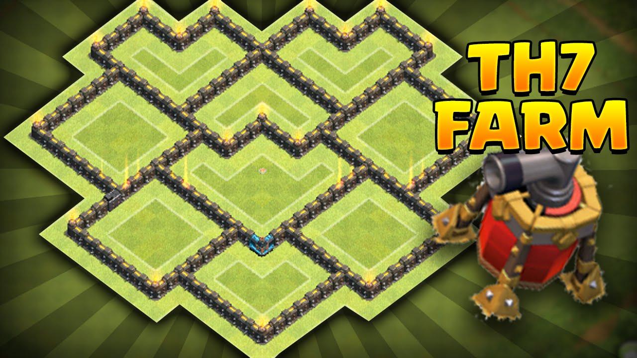 Th7 farming base coc best town hall 7 farming base insane
