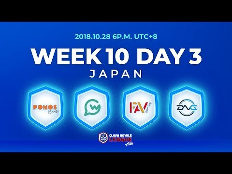 Clash Royale League Asia Season2 - Week 10 Day 3
