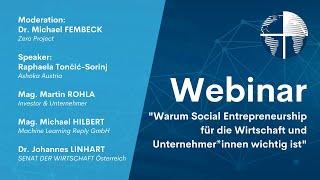 SENATs-WEBINAR Warum Social Entrepreneurship für Unternehmer*innen wichtig ist - Live vom 16.06.2021