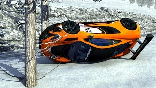 Supercars Out Of Control Crashes - BeamNG Drive