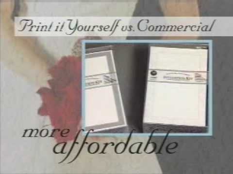Gartner Studios Print Your Own Wedding Invitations - YouTube