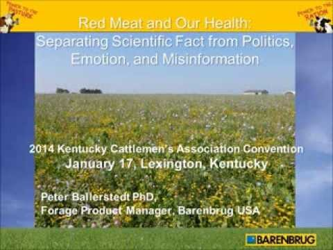 """""""Red Meat and Our Health: Separating Scientific Fact from Politics, Emotion, and Misinformation"""""""