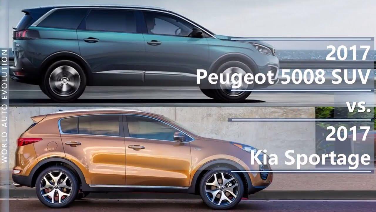 2017 Peugeot 5008 SUV Vs 2017 Kia Sportage (technical Comparison)