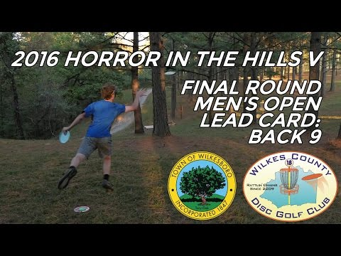 2016 Horror in the Hills V: Final Round, Men's Open Lead Card, Back 9