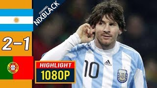 Аргентина Португалия 2 1 Обзор Товарищеского Матча 09 02 2011 HD