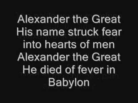 Iron Maiden – Alexander the Great Lyrics | Genius Lyrics