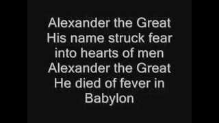 Iron Maiden - Alexander The Great Lyrics
