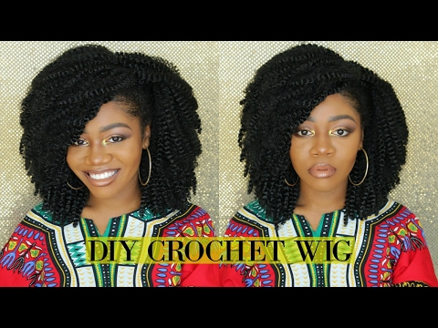 The Perfect Kinky Curly Afro   $35 DIY Natural Looking Crochet Wig   Quick & Easy ft MotownTress