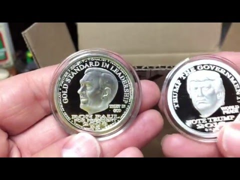 Silver Trump Liberty Dollars Unboxed - All Versions.