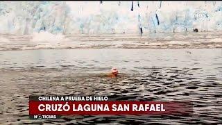 Nadadora Bárbara Hernández cruzó la Laguna San Rafael - CHV Noticias