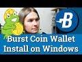 Burst Coin Wallet Install on Windows